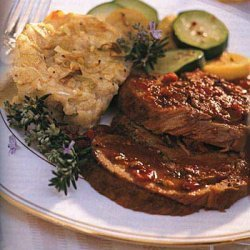 Veal Shoulder with Porcini Mushrooms, Garlic and Rosemary recipe