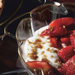 Vanilla Creams with Strawberries in Cassis recipe