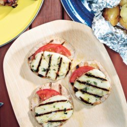 Grilled Cheese and Tomato Stacks recipe