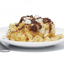 Mac and Two Cheeses with Caramelized Shallots recipe