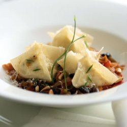 Goat Cheese Ravioli with Bell Peppers and Brown Butter recipe