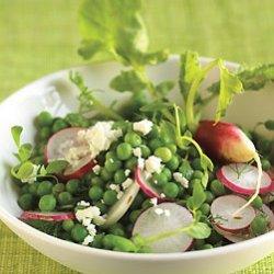 Pea Salad with Radishes and Feta Cheese recipe