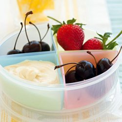 Fresh Fruit with Mascarpone and White Chocolate Dip recipe