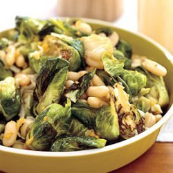 Brussels Sprouts with White Beans and Pecorino recipe