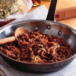 Warm Mushroom and Stilton Salad recipe