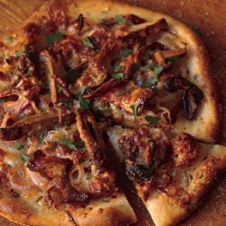 Sausage, Red Onion, and Wild Mushroom Pizza recipe