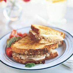 Toasted Almond and Pecorino Sandwiches recipe