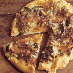 Wild Mushroom Pizza with Caramelized Onions, Fontina, and Rosemary recipe