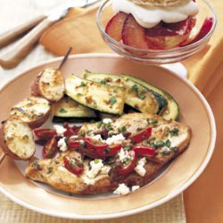 Sauteed Chicken with Tomatoes, Olives, and Feta recipe