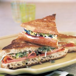 Grilled Ham, Cheese, and Salami with Caper Relish recipe