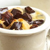 Bread Pudding With Chocolate And Brandied Cherries recipe