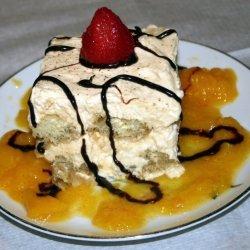 Pumpkin Tiramisu With Peach Sauce recipe