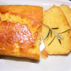 Lemon Polenta Cake With Rosemary Syrup recipe
