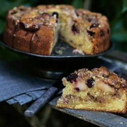 Apple And Blackberry Cake recipe