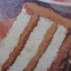 Light And Easy Chocolate Cheese Filled Angel Cake recipe