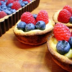 Four Berry Tartlets With Lemon Cream Curd Topping recipe