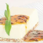 Goats Curd Cheesecake With Passionfruit Caramel Sa... recipe