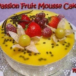 Passion Fruit Mousse Cake recipe