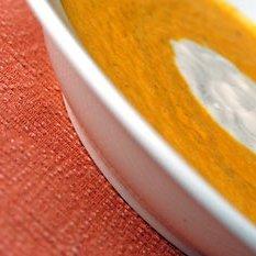 Roasted Carrot  Ginger Soup With Lemon Yogurt recipe