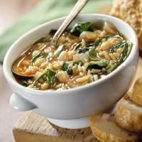 Slow Cooker Savory Bean And Spinach Soup recipe