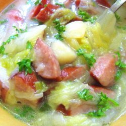 Creamy Kielbasa And Greens Soup recipe