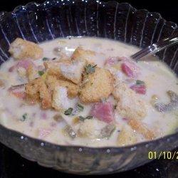 Corn Wild Rice And Ham Or Smoked Sausage Chowder recipe
