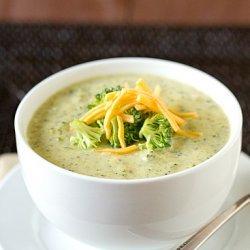 Cream Of Broccoli And Cheddar Soup recipe