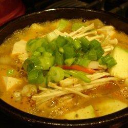 Korean Style-dwenjang Chigae Bean Pasta Stew recipe