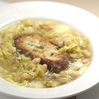 Italian Peasant Soup With Cabbage Beans And Cheese recipe