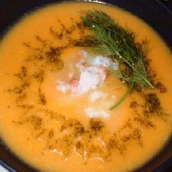 Butternut Squash Soup With Lobster recipe