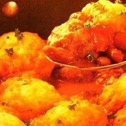 Chili Meatball Stew With Cornmeal Dumplings recipe