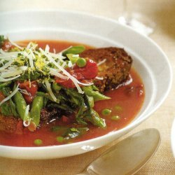 Spring Vegetable Soup With Crusty Bread recipe