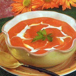 Chilled Squash And Carrot Soup  Diabetic Friendly recipe
