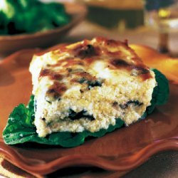 Baked Polenta with Swiss Chard and Cheese recipe