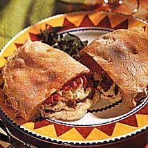 Calzones with Cheese, Sausage and Roasted Red Pepper recipe