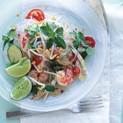 Thai Chicken and Shrimp Noodle Salad recipe