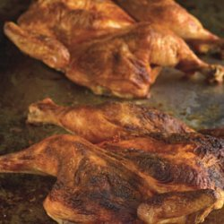 Roast Chicken with Spanish Paprika and Herb-Roasted Smashed Potatoes recipe