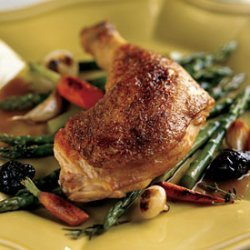 Chicken in Riesling with Prunes and Cabbage recipe