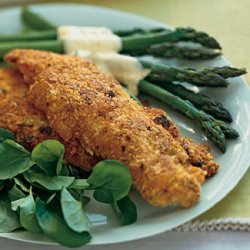 Parmesan-Crusted Chicken and Asparagus with Sauce Maltaise recipe