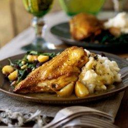 Braised Chicken with Garlic and White Wine recipe