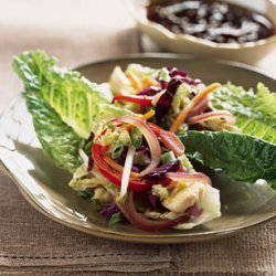 Pan-Asian Chicken and Vegetable Lettuce Wraps recipe