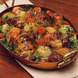 Skillet Chicken and Vegetables recipe