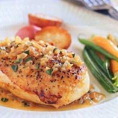 Chicken with Tarragon Vinegar Sauce recipe