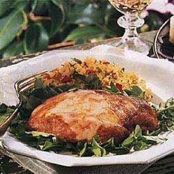 Chicken with Mustard Cream on Watercress recipe
