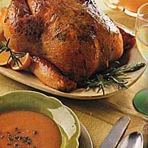 Roast Chicken with Rosemary-Orange Butter recipe