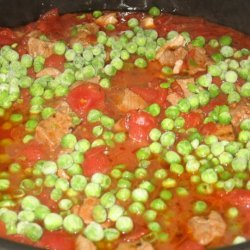 Lamb Stew With Peas And Tomatoes recipe
