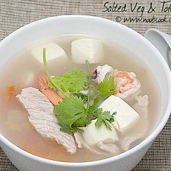 Salted Vegetables And Tofu Soup recipe
