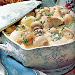 Creamy Veal Stew With Mushrooms recipe