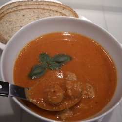 Spicy Tomato-chickpea Soup With Meatballs recipe