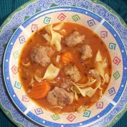 Chicken Meatball And Noodle Soup recipe